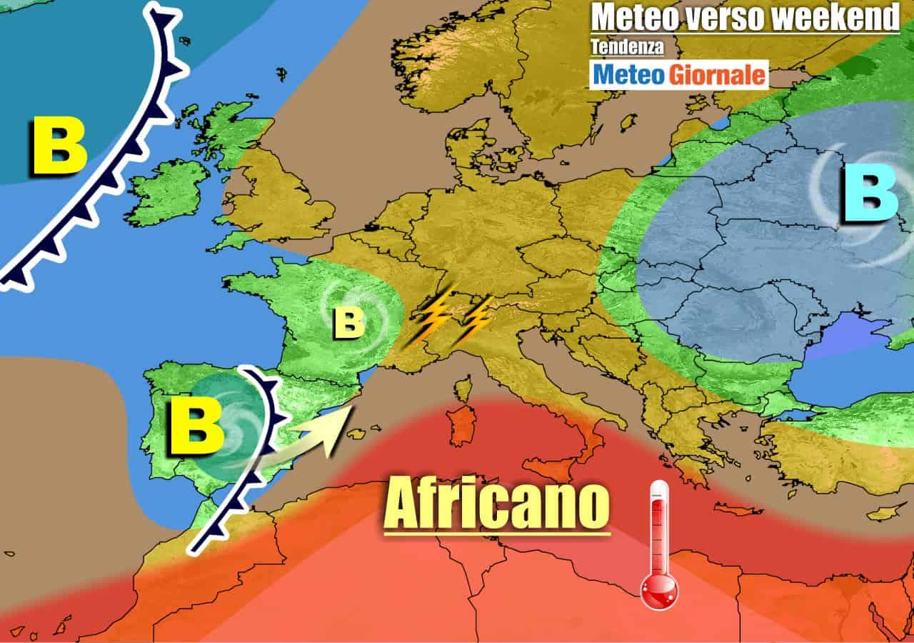 meteogiornale previsioni 7 giorni 1 - METEO 7 Giorni. CALDO per poco, nel WEEKEND qualche PIOGGIA e TEMPORALE