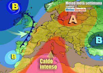 Caldo e anticiclone sull'Italia e gran parte d'Europa
