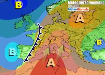Anticiclone africano sull'Italia nel weekend, ma minacce di temporali da ovest