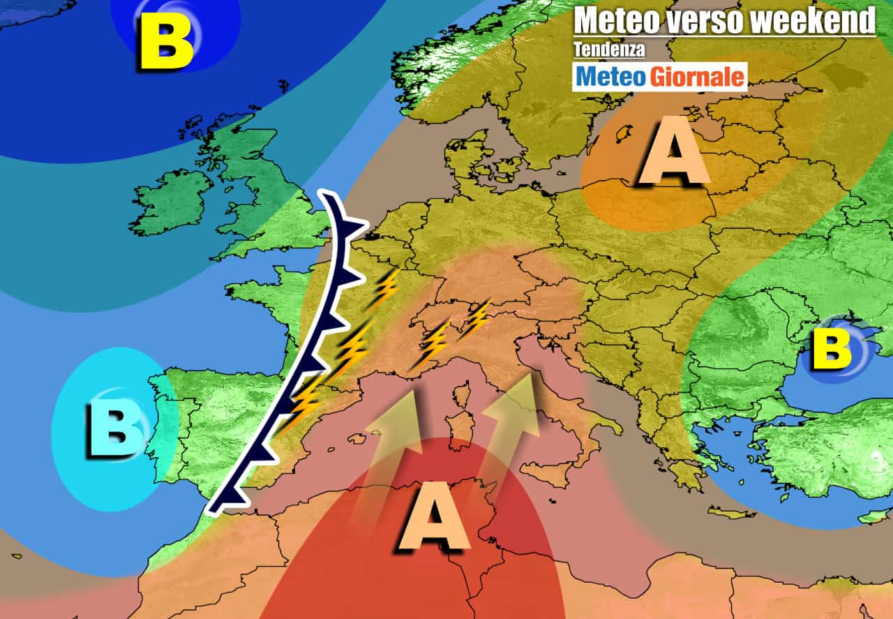 meteogiornale previsioni 7 giorni 12 - METEO Italia. CALDO AFRICANO e AFA. Apice nel weekend, picchi di 40 GRADI