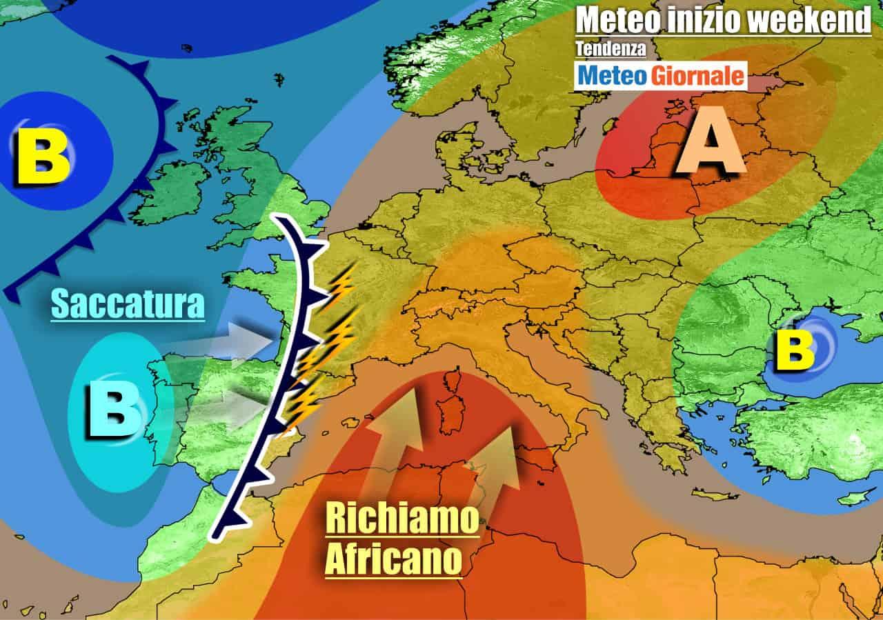 meteogiornale previsioni 7 giorni 13 - METEO Italia. GRANDE CALDO, weekend rovente. Ma incombono TEMPORALI