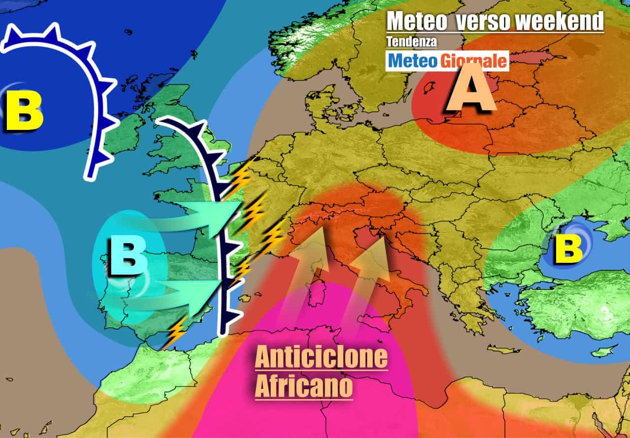 meteogiornale previsioni 7 giorni 14 - METEO Italia. Verso WEEKEND CALDISSIMO. Poi in arrivo TEMPORALI e GRANDINE