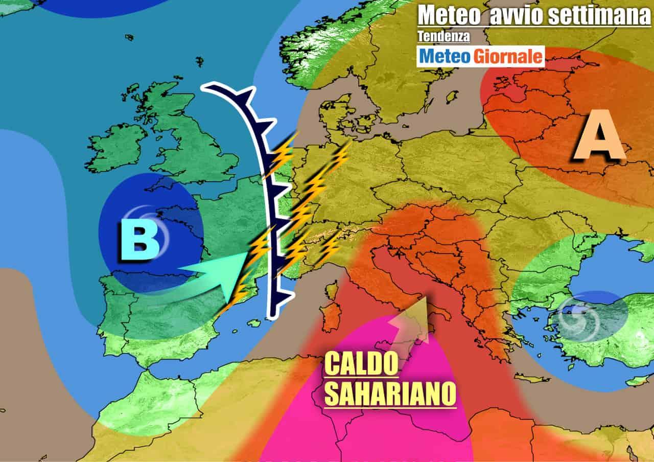 meteogiornale previsioni 7 giorni 16 - METEO con il SUPER CALDO, ma anche rischio VIOLENTI TEMPORALI