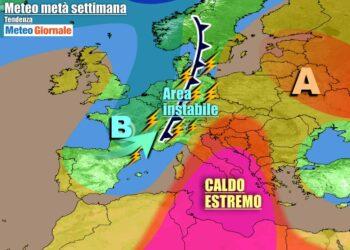 Italia ancora sotto l'anticiclone africano per gran parte della settimana
