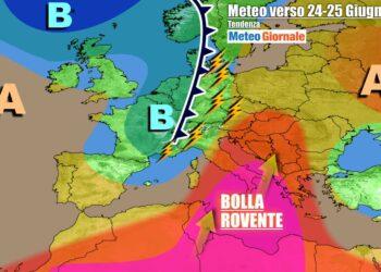 Italia contesa fra anticiclone africano e temporali