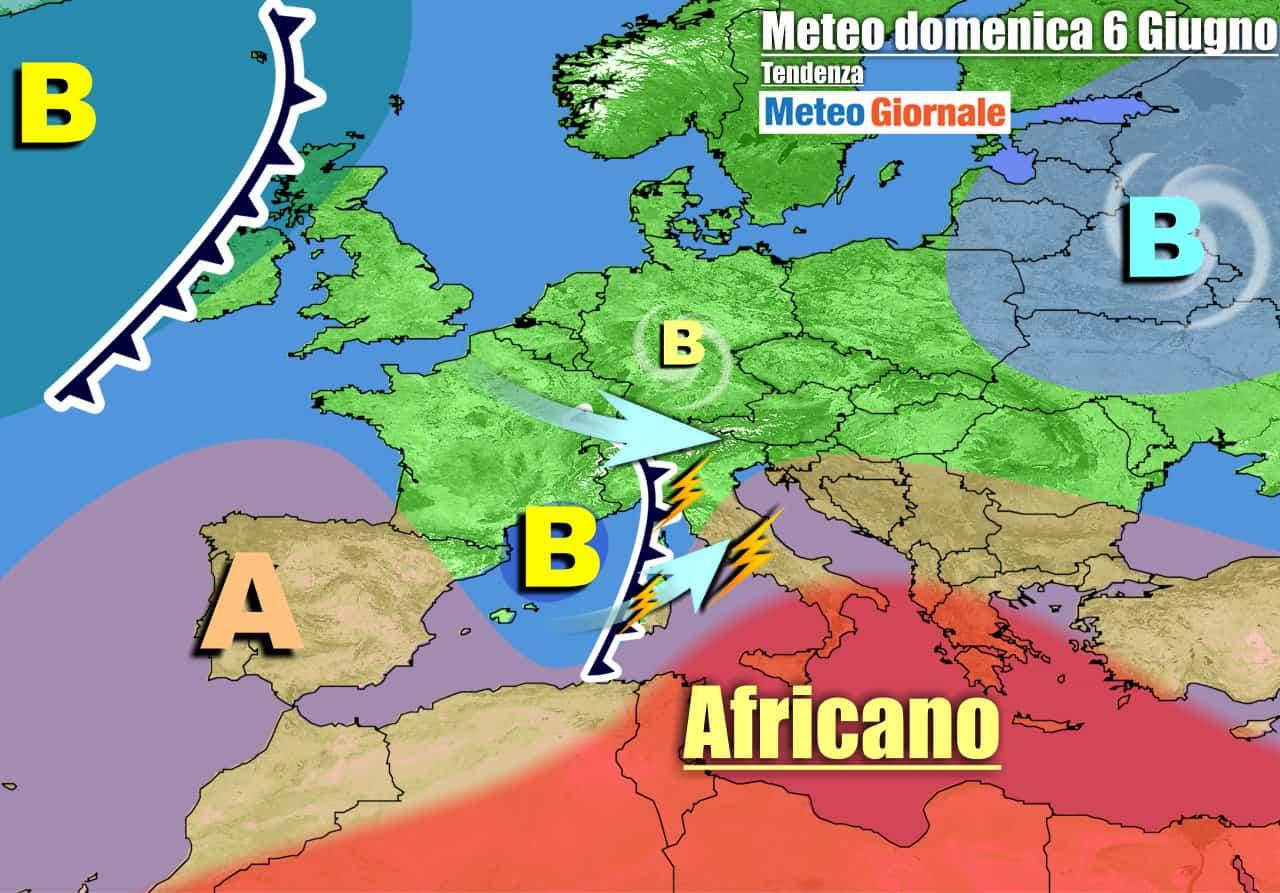 meteogiornale previsioni 7 giorni 2 - METEO 7 Giorni. Dal weekend TEMPORALI. Stop al Caldo, l'Estate frenerà