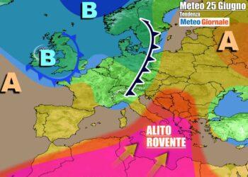 Italia fra anticiclone africano e temporali