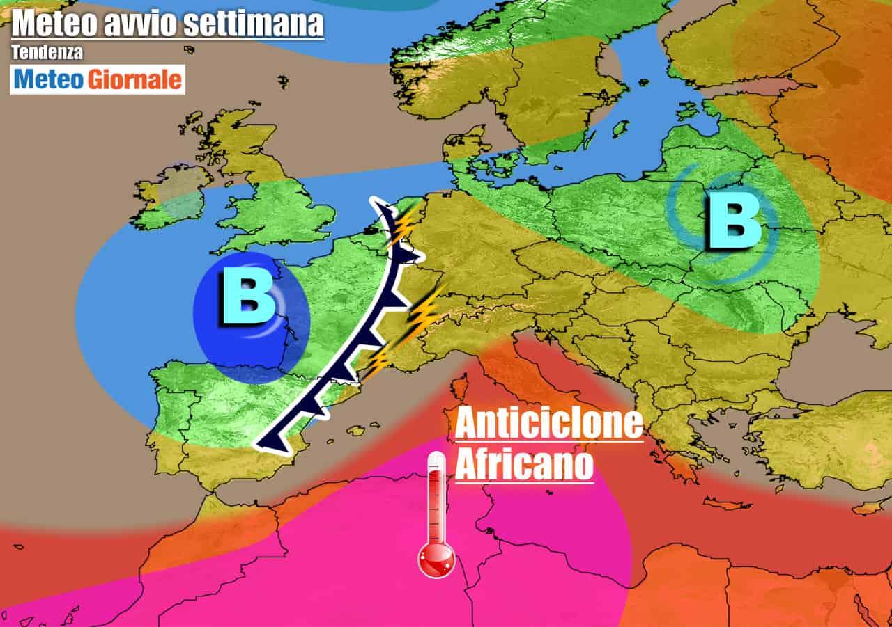 meteogiornale previsioni 7 giorni 23 - METEO 7 Giorni. Ripresa del CALDO AFRICANO, ma minaccia di TEMPORALI