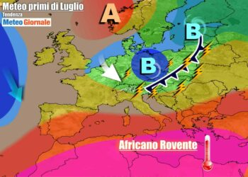 Italia raggiunta da aria più fresca e instabile