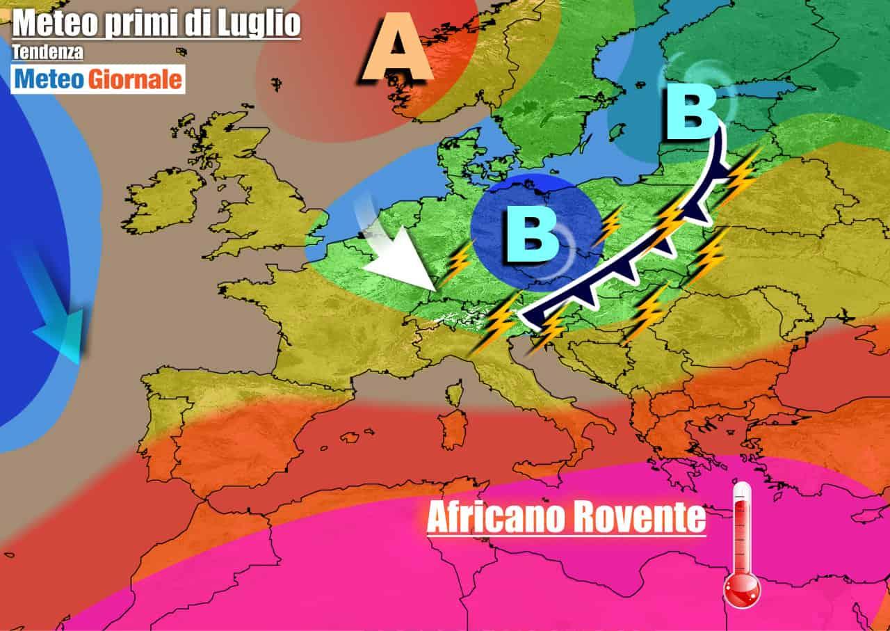 meteogiornale previsioni 7 giorni 26 - METEO ITALIA 7 Giorni. CALDO ai massimi, in arrivo più fresco e TEMPORALI