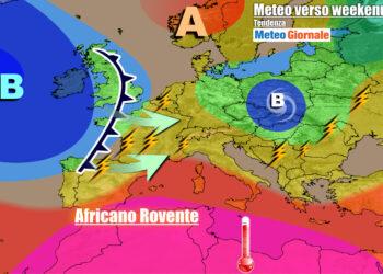 Altri temporali in rotta verso l'Italia