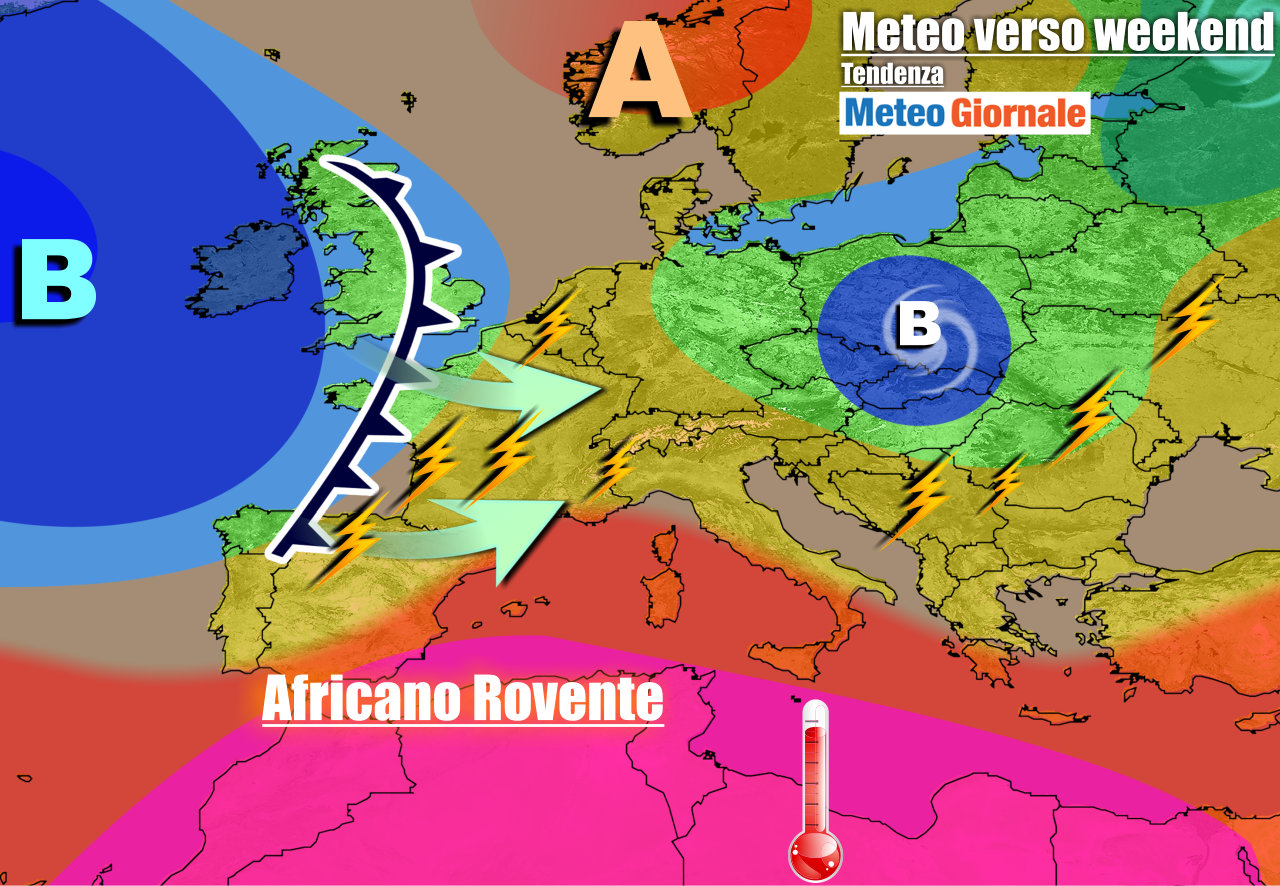 meteogiornale previsioni 7 giorni 27 - METEO ITALIA 7 Giorni. Tra CALDO e locali TEMPORALI, PEGGIORA nel weekend