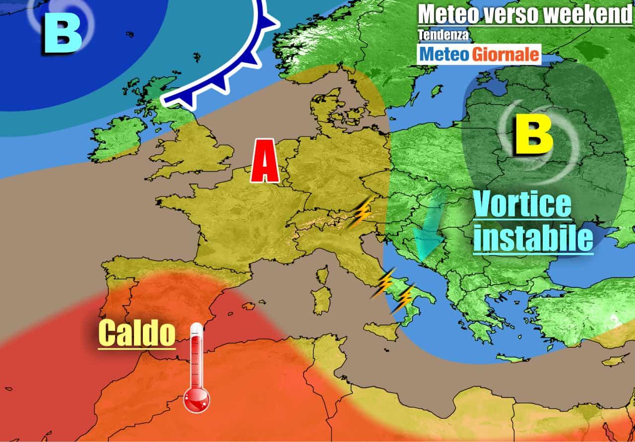 meteogiornale previsioni 7 giorni 6 - METEO Italia. Ancora raffica di TEMPORALI POMERIDIANI, dal weekend cambia