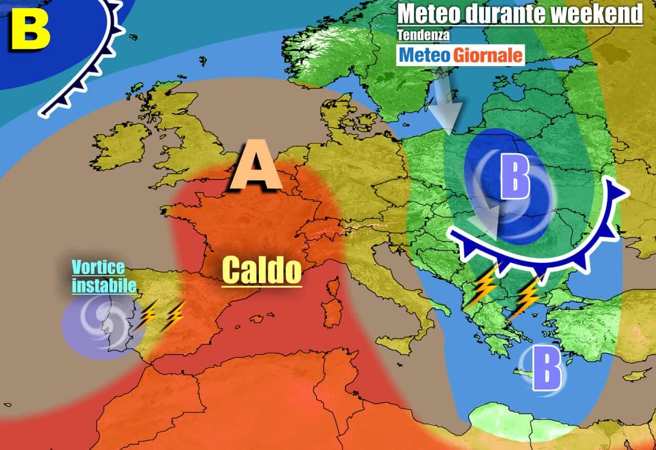 meteogiornale previsioni 7 giorni 8 - METEO con GRAN CALDO dal weekend. Insidiosi TEMPORALI