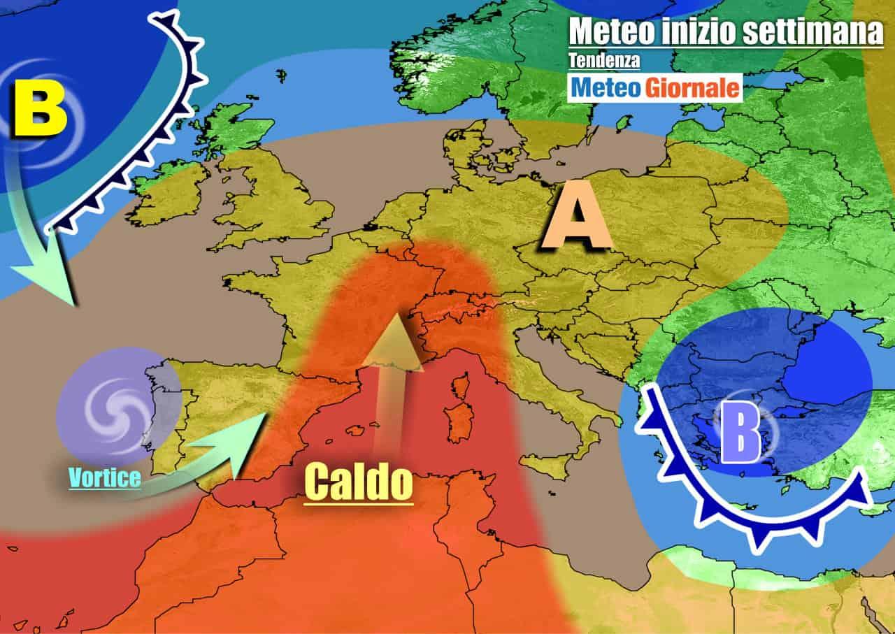 meteogiornale previsioni 7 giorni 9 - METEO Italia. CALDO ovunque sin verso metà settimana, poi NOVITÀ in arrivo