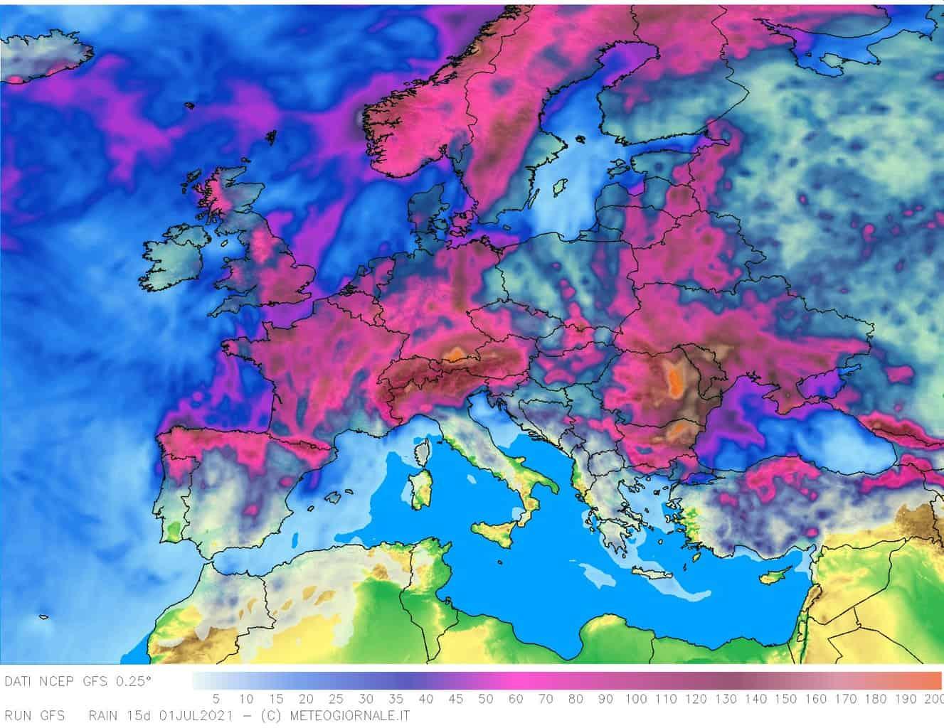 pcp og15d 384 - Meteo europeo e Italia: CALDO d'Africa e l'attivazione di TEMPORALI intensi