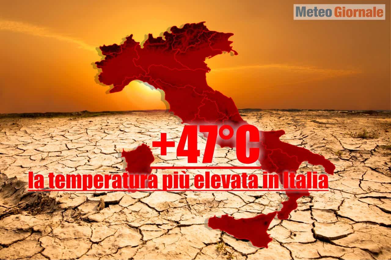previsione meteo di ondata di calore oltre 45 gradi - Temperature, previsioni meteo di CALDO ATROCE, sino 45-47°C in Sicilia