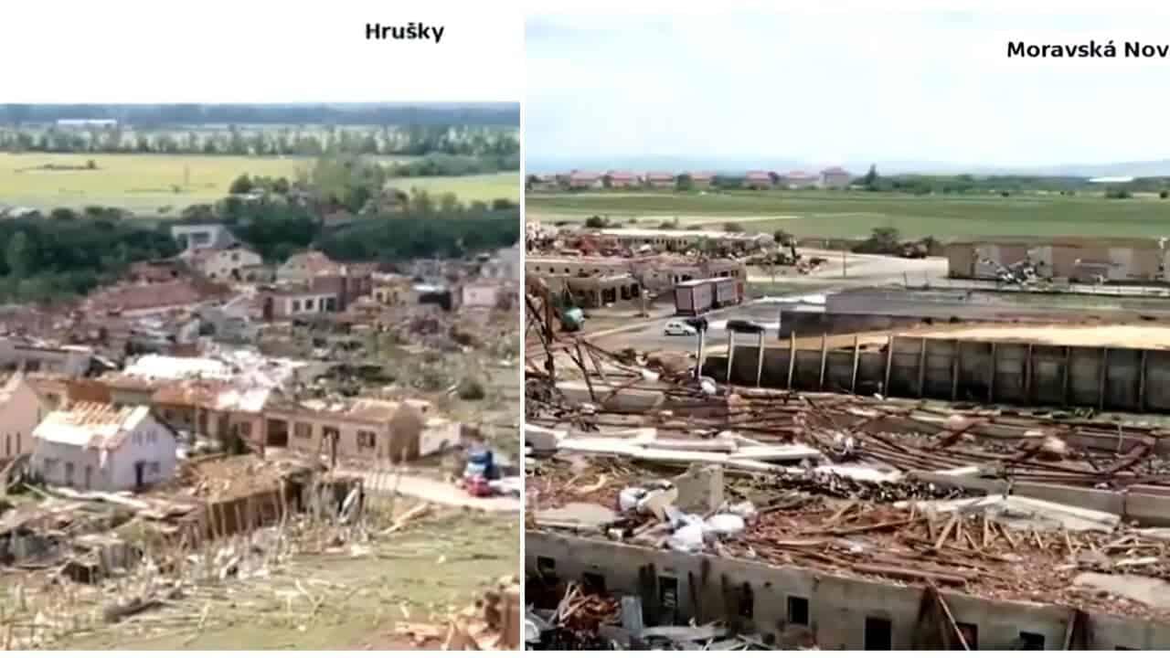 tornado repubblica ceca 2 - Meteo Europa: il tornado devastante dalla Moldavia. Paese distrutto