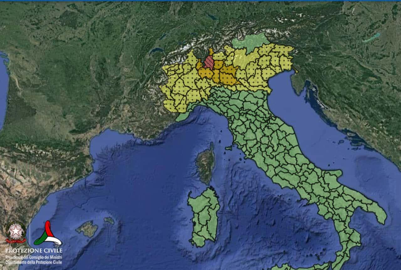 allerta meteo 31 luglio 2021 - Allerta Meteo della Protezione Civile per il Nord Italia e la Toscana