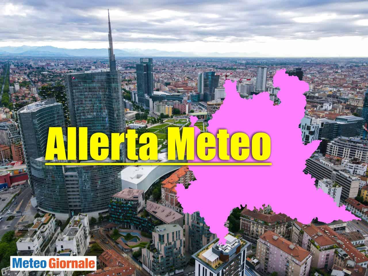 allerta meteo lombardia - Allerta meteo rossa in Lombardia con pioggia, fulmini, grandine e vento