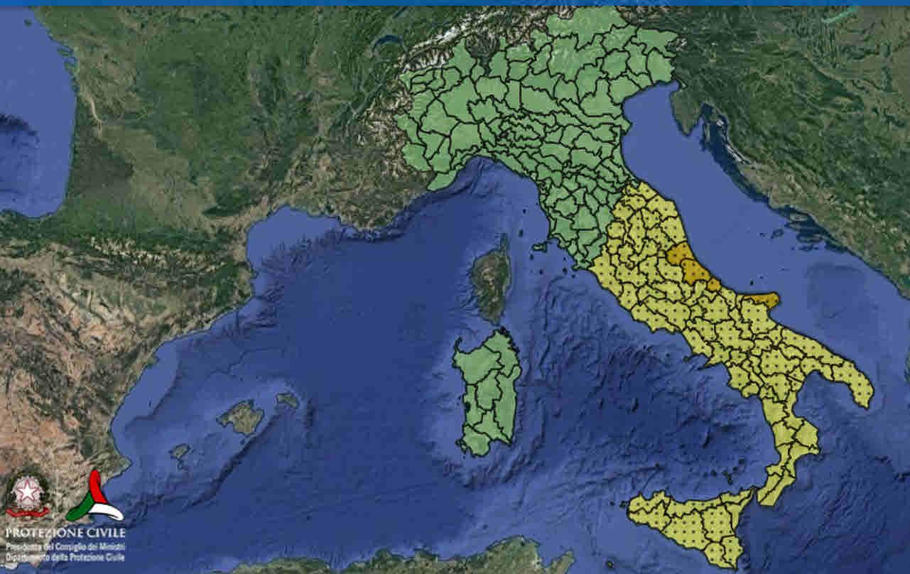 allerta meteo protezione civile - Allerta meteo Protezione Civile in numerose Regioni d'Italia