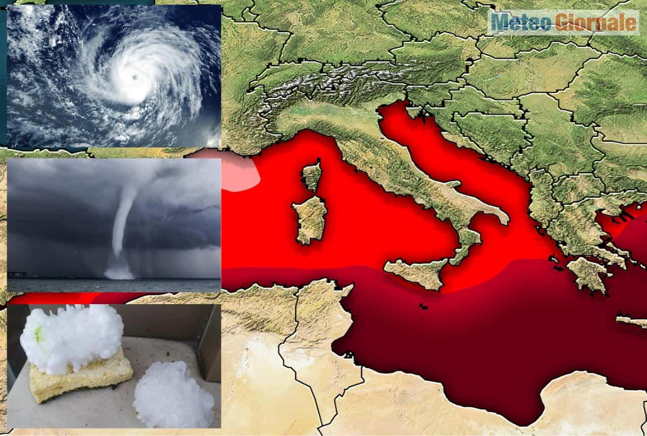 caldo mediterraneo - Bombe meteo Mediterranee innescate dal Mare eccessivamente Caldo, da SUBITO