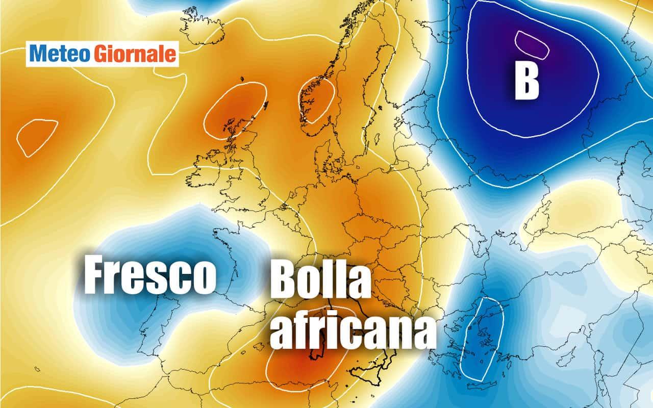 caldo - METEO imminente, ci risiamo: BOLLA ROVENTE verso ITALIA