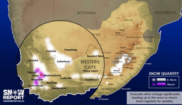 image 1061 - Sudafrica, meteo avverso. Gli scorsi giorni la neve caduta sugli altipiani