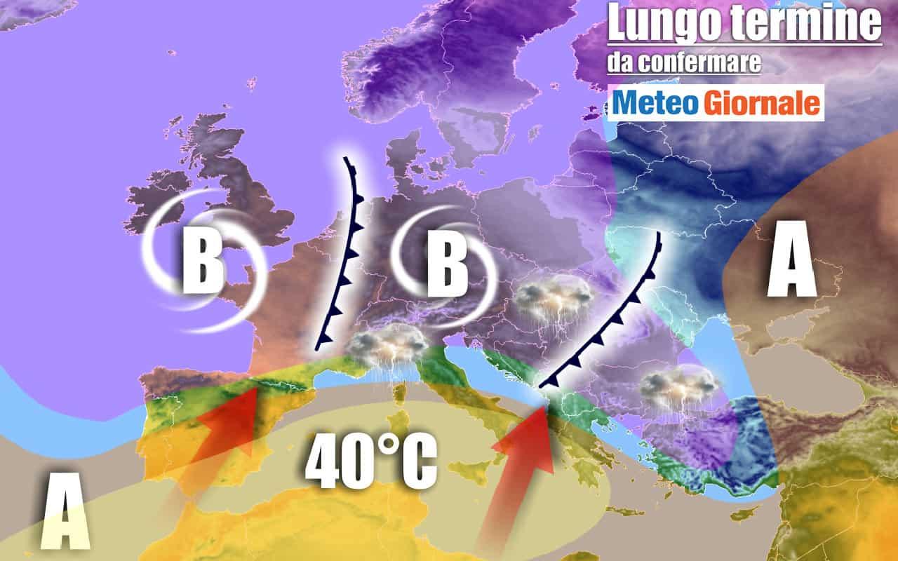 lungo termine 1 - METEO Italia al 18 luglio: CALDISSIMO, temporali al Nord