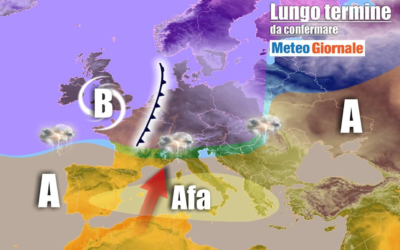lungo termine 11 - METEO Italia al 3 agosto: insidie nell'estate AFRICANA