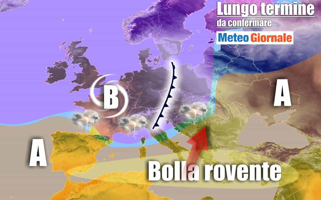 lungo termine 13 - METEO Italia al 5 agosto: AFA, ma anche REFRIGERIO