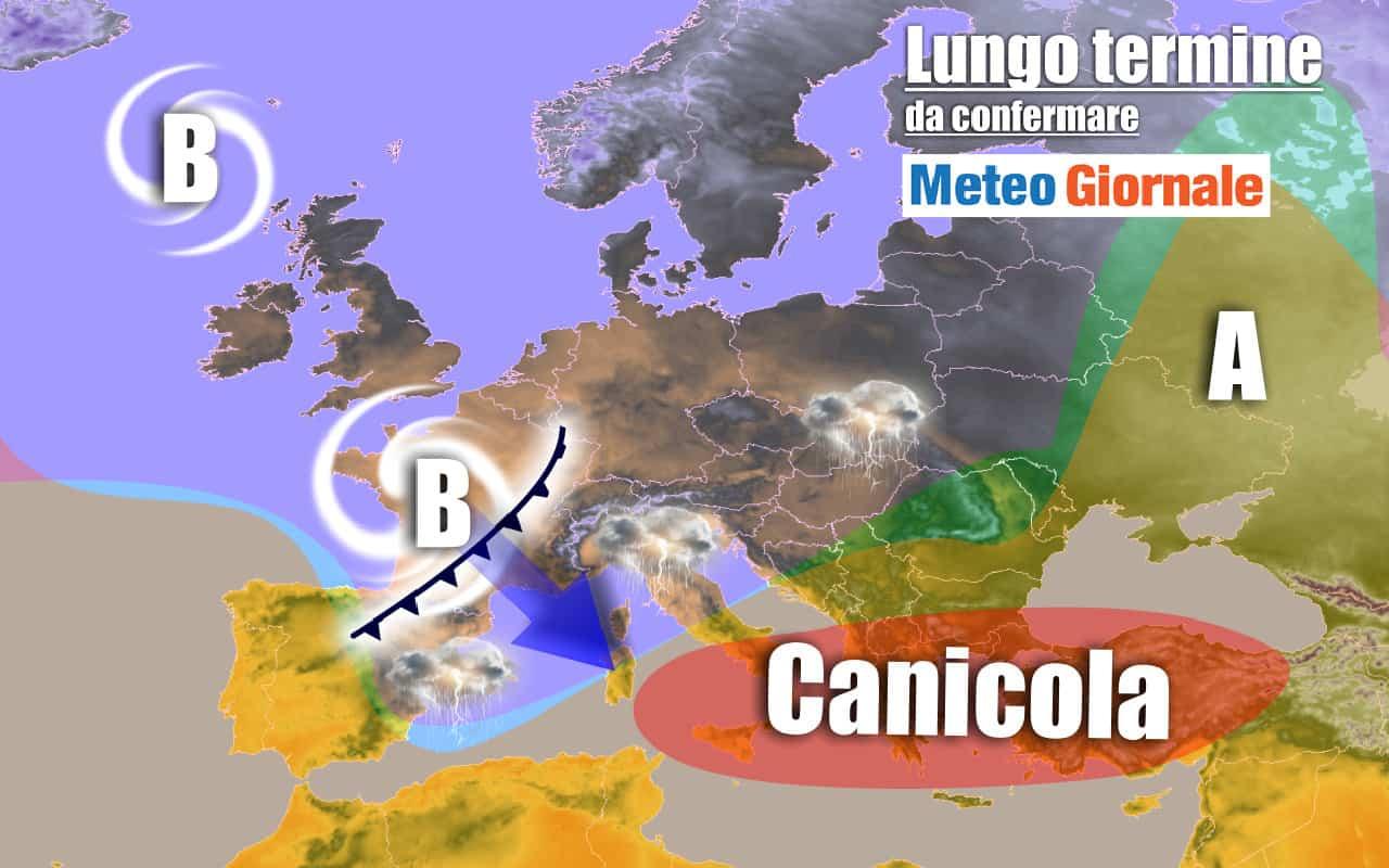 lungo termine 14 - METEO Italia al 6 agosto: novità RINFRESCANTI in vista