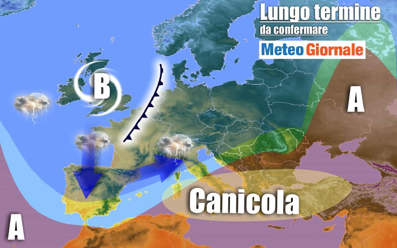 lungo termine 17 - METEO Italia al 10 agosto: continua l'Estate ROVENTE africana