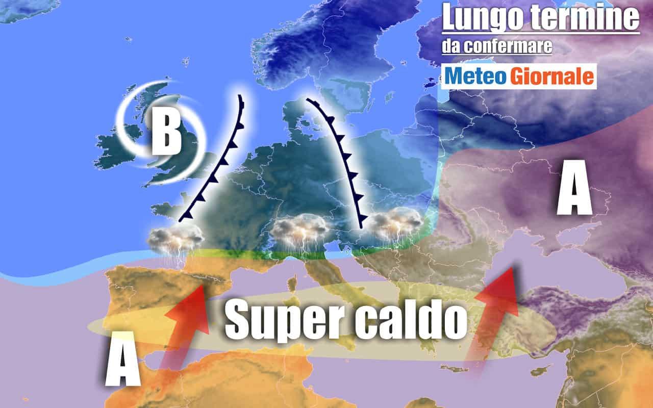 lungo termine 18 - METEO Italia all'11 agosto: oltre 40°C, CALDO esagerato