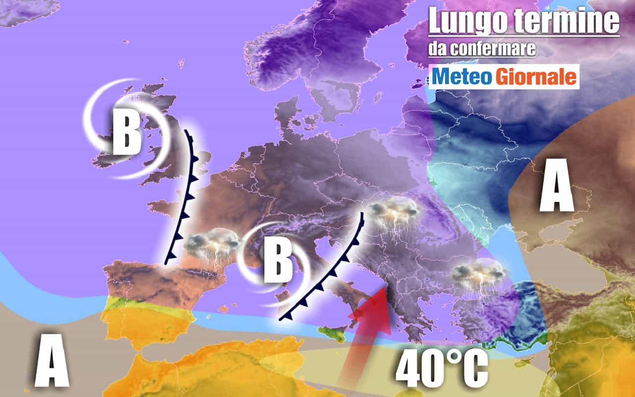 lungo termine 2 - METEO Italia al 20 luglio: possibili grandi NOVITA'