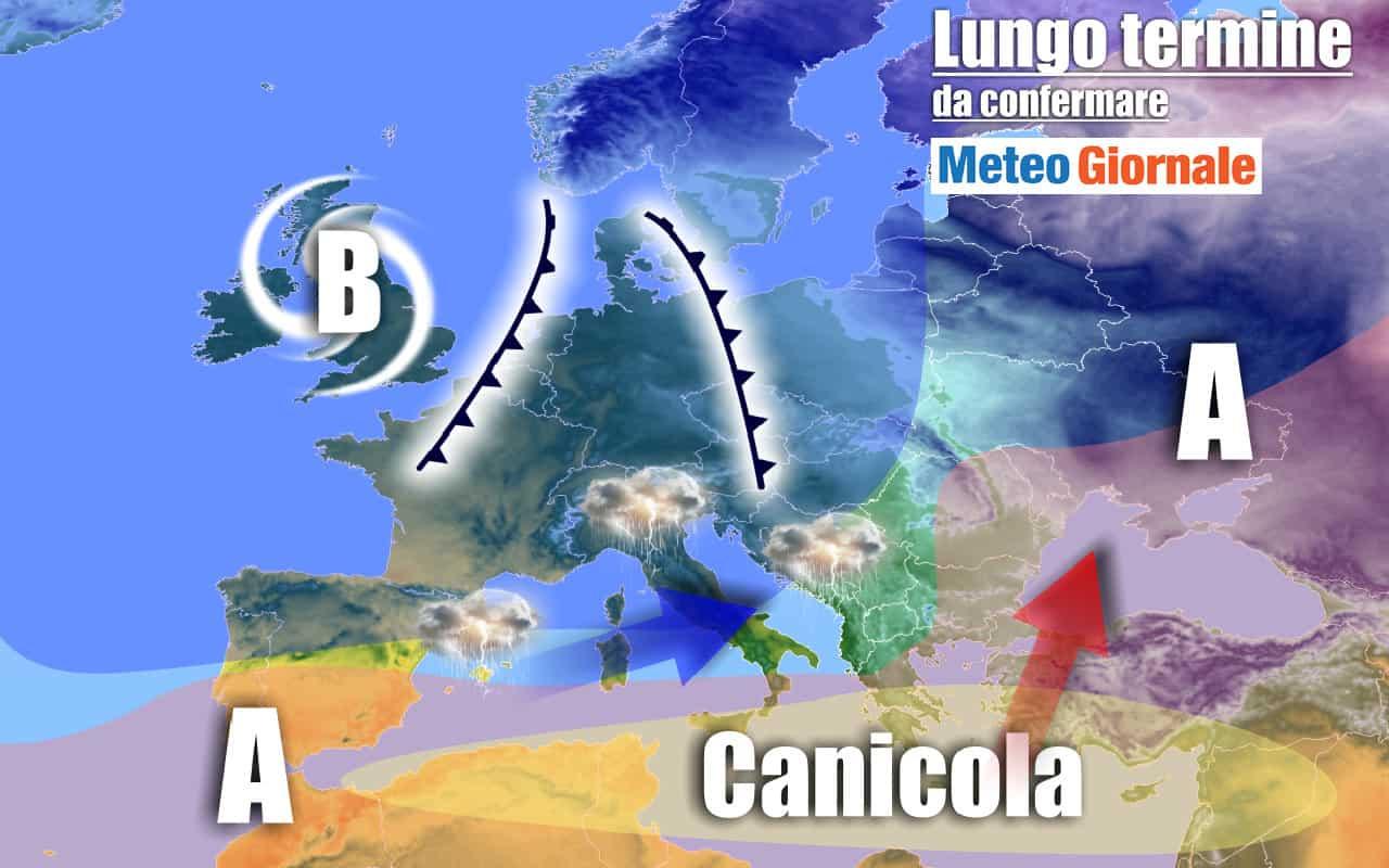 lungo termine 20 - METEO Italia al 13 agosto: CALDO sahariano e RINFRESCATE