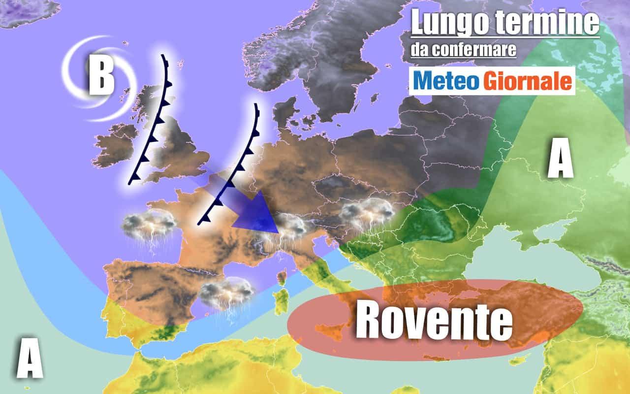 lungo termine 21 - METEO Italia al 14 agosto: sbalzi termici enormi, Sahara e temporali