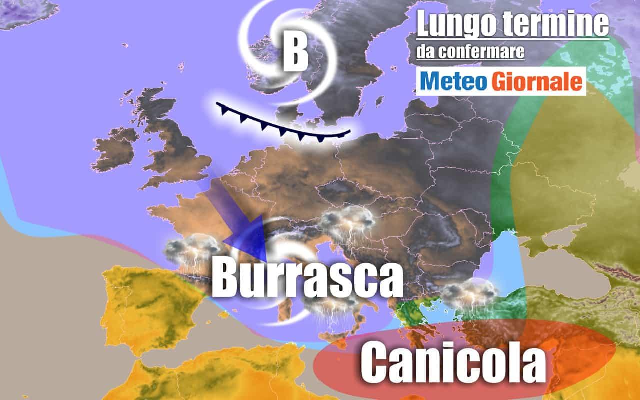 lungo termine 4 - METEO Italia al 23 luglio: BURRASCA di mezza Estate