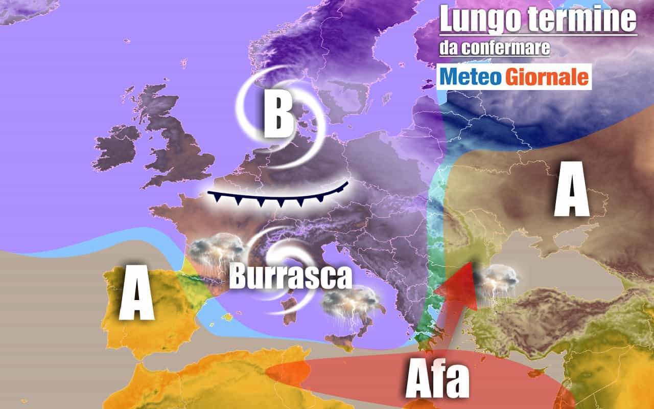 lungo termine 5 - METEO Italia al 24 luglio: stop d'Estate, poi ancora AFRICA