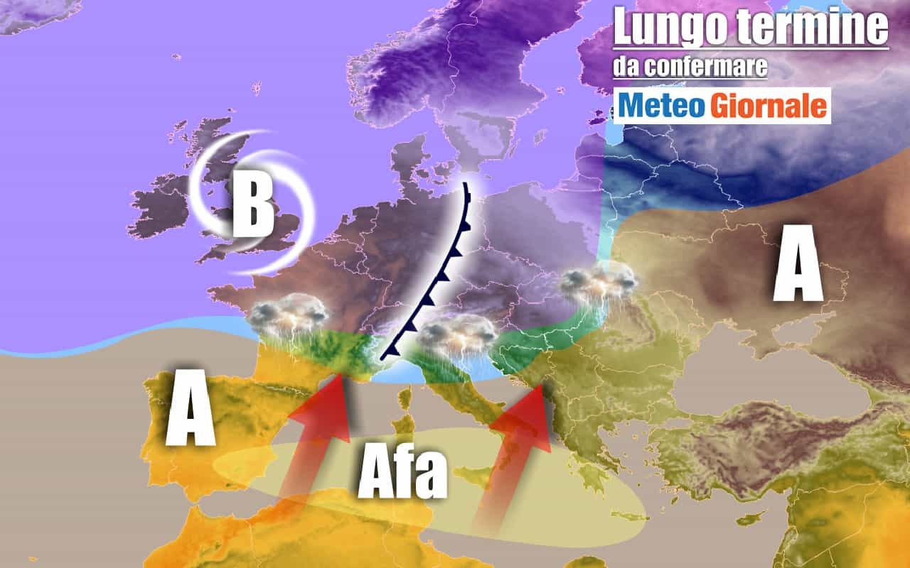 lungo termine 7 - METEO Italia al 29 luglio: gran caldo, anzi CALDISSIMO