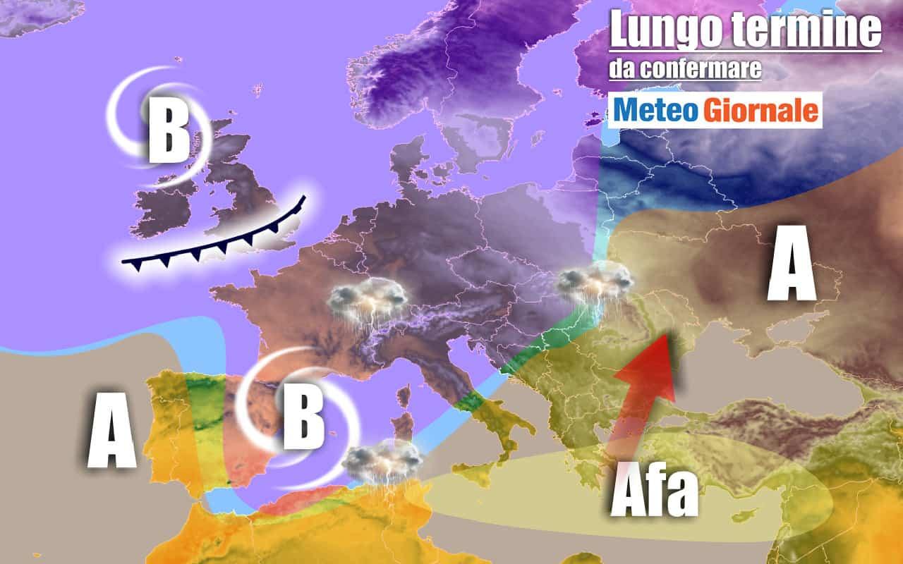 lungo termine domenica 2 - Meteo Italia al 2 agosto: CALDO d'Africa in bilico