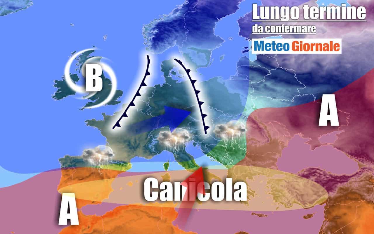 lungo termine domenica 4 - Meteo Italia al 16 agosto, ROVENTE con poche pause