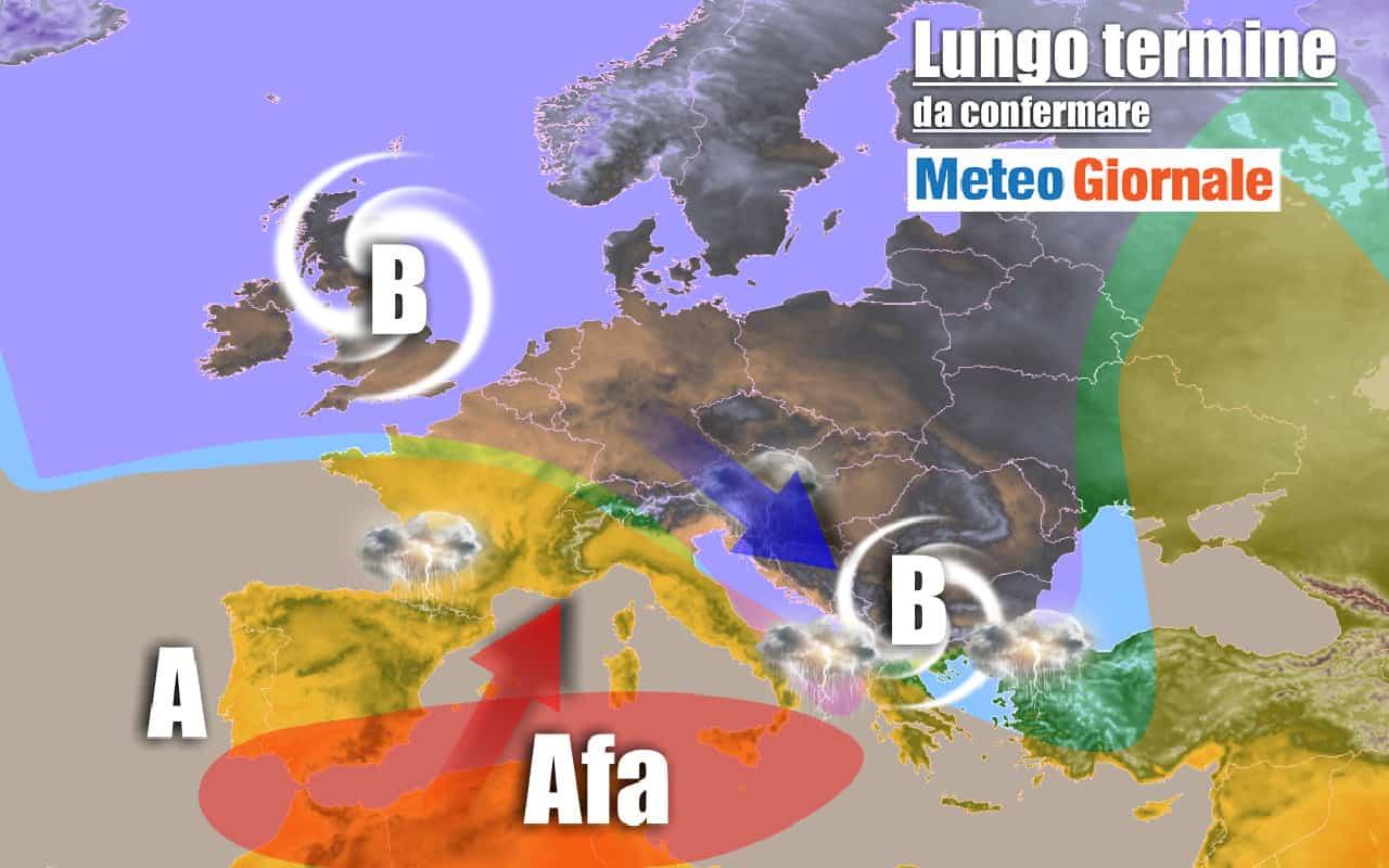 lungo termine mtg 2 - METEO Italia al 25 Luglio: crollo termico, Grandine e Temporali, poi molto Caldo