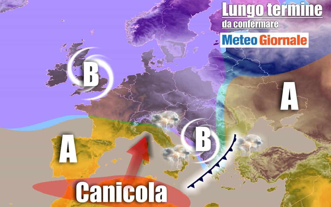 lungo termine mtg 3 - METEO Italia al 27 luglio: torna l'ESTATE africana