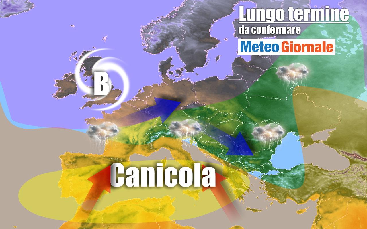 lungo termine - METEO Italia al 16 luglio: sempre e solo CALDO d'Africa