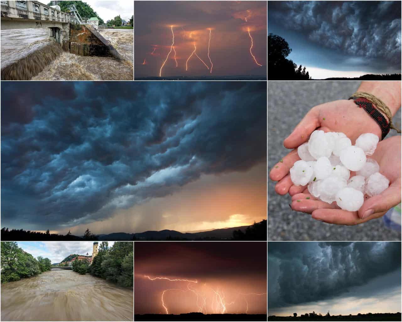 meteo 14366 1 - Gran BOTTO di TEMPORALI Luglio: meteo estremo d'Estate, GRANDINE