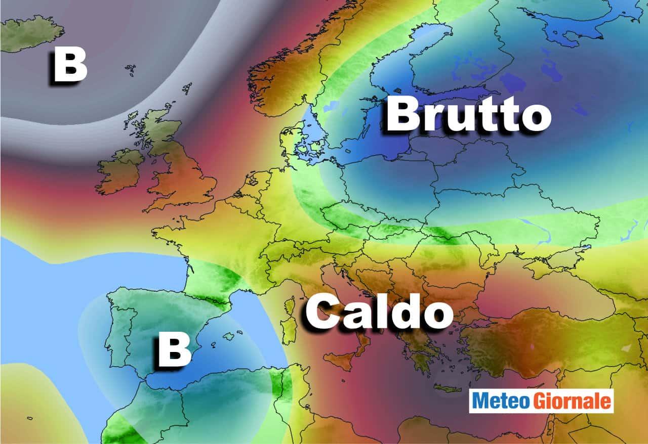 meteo agosto 1 - Meteo d'Agosto, possibili NOVITA' dal Nord Atlantico