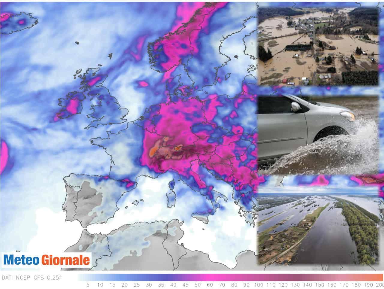 meteo alluvionale europa - METEO: grande PASTICCIO d'Estate. Rischio alluvioni lampo in Luglio