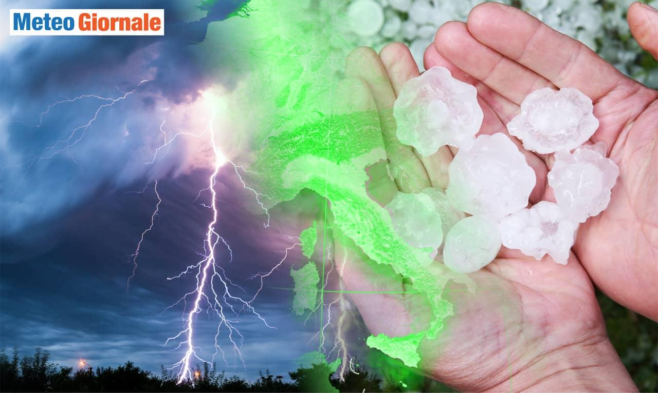 meteo con burrasca - BURRASCA meteo d'Estate: grandine anche di grosse dimensioni