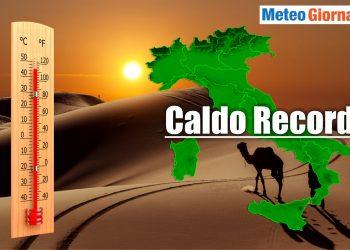meteo con caldo record in italia